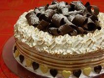 Меренга и шоколадный торт стоковые изображения