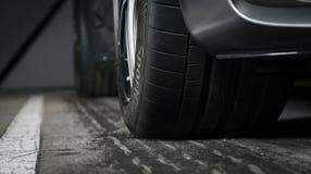 Мерседес-Benz GT-C AMG 6 3 внешних автошины гонки деталей Стоковая Фотография