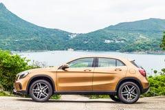 Мерседес-Benz GLA 200 день привода 2017 испытаний стоковое изображение rf