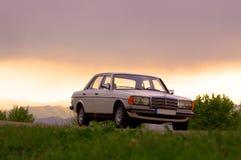 Мерседес-Benz W123 - фронт кобры 240D стоковые изображения rf