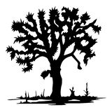 Мертвое дерево без сделанной эскиз к иллюстрации вектора листьев Стоковое Изображение RF