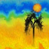 Мертвое дерево иллюстрация штока