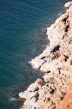 Мертвое море, море соли, Джордан, Ближний Восток Стоковые Изображения RF