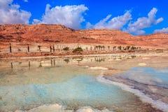 Мертвое море на побережье Израиля Стоковые Фотографии RF