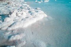 мертвое море соли стоковое изображение rf