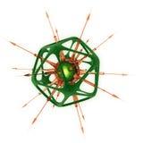 мертво изолированная микро- белизна организма Стоковое Изображение