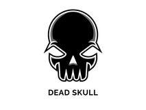 Мертвый вектор логотипа черепа Стоковая Фотография RF