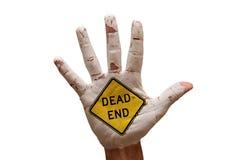 мертвый конец ладони Стоковая Фотография RF
