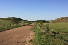 Мертвый конец в Rolling Hills, Канзасе Стоковая Фотография RF