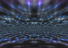 Мерцающая абстрактная голубая предпосылка световых лучей Стоковое Изображение