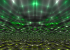 Мерцающая абстрактная предпосылка световых лучей зеленого света Стоковые Изображения