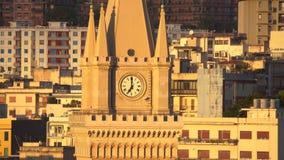 Мессина, Италия - 6-ое ноября 2018 - панорамный вид города и di Мессины Duomo или собора Мессины в Сицилии видеоматериал