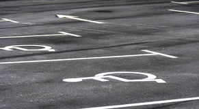 Места для парковки гандикапа Стоковая Фотография