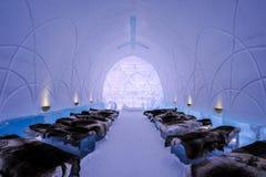 Места для того чтобы сказать я делаю - Icehotel Стоковое Изображение