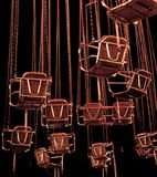 места карусели ночи Стоковое Фото