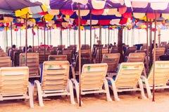 Места на пляже с винтажным стилем стоковая фотография rf
