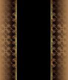 места приглашения flayer украшения карточки текст классицистического шикарного точного золотистого идеально безшовный для использ Стоковое Изображение