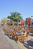 Места ротанга на солнечном квадрате Pius, Тилбурге, Нидерландах Стоковое фото RF