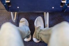 Места самолета с больше космоса ноги для удобного полета Стоковые Изображения