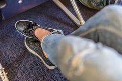 Места самолета с больше космоса ноги для удобного полета Стоковое Фото
