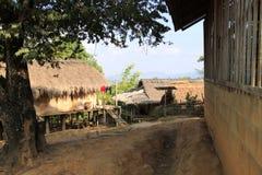 Местная деревня в северном Таиланде Стоковая Фотография RF