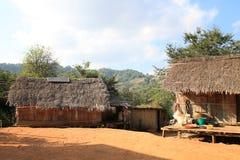 Местная деревня в северном Таиланде Стоковая Фотография