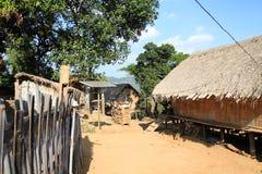 Местная деревня в северном Таиланде Стоковое Изображение RF