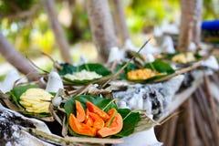 Местная еда Южной части Тихого океана стоковая фотография