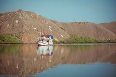 Местная рыбацкая лодка в океане стоковые изображения rf
