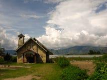 Местная церковь на озере Toba Стоковое фото RF