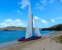 Местное ремесло в конце гонки в наветренных островах Стоковое Изображение