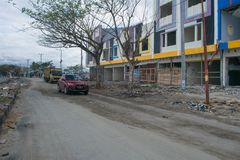 Местное состояние магазина на Talise после цунами Palu 28-ого сентября 2018 стоковое изображение