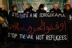 Местные протесты людей в Белграде стоковая фотография