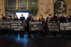 Местные протесты людей в Белграде стоковые изображения