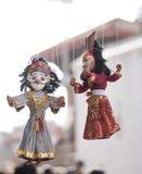 Местные ремесла и сувенир традиционных марионеток вися для продажи Стоковые Фотографии RF