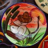Местные сувениры на дисплее на рынке пляжа в Playa del Carmen, Мексике Стоковые Фотографии RF