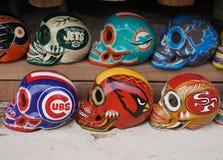 Местные сувениры на дисплее на рынке пляжа в Playa del Carmen, Мексике Стоковое Изображение
