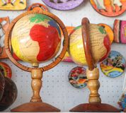 Местные сувениры на рынке пляжа на пляже Bavaro в Punta Cana, Доминиканской Республике стоковое фото