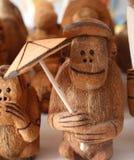 Местные сувениры сделанные от кокоса в Punta Cana, Доминиканской Республике стоковое фото rf