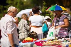 Местные люди отпраздновали день Ивана Kupala, Tervenichi, Россию Стоковое Изображение