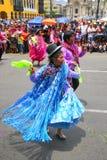 Местные люди танцуя во время фестиваля девственницы de Ла Кандели Стоковое Изображение RF