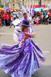 Местные люди танцуя во время фестиваля девственницы de Ла Кандели Стоковая Фотография RF