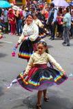 Местные люди танцуя во время фестиваля девственницы de Ла Кандели Стоковые Изображения RF