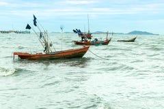 Местный анкер шлюпки рыболова стоковое изображение rf