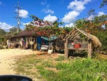 Местный красочный туристский магазин продавая традиционное мексиканское souv Стоковые Изображения