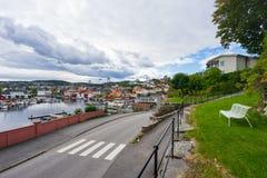 Местный морской порт в Норвегии стоковые изображения rf