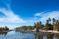Местный рыбозавод берега реки, ландшафт, seascape стоковые изображения rf