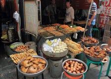 местный рынок еды фарфора Стоковое фото RF
