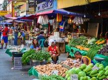 Местный рынок на Чайна-тауне в Маниле, Филиппинах Стоковая Фотография RF