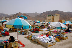 Местный рынок продавая даты и ковер Стоковое фото RF